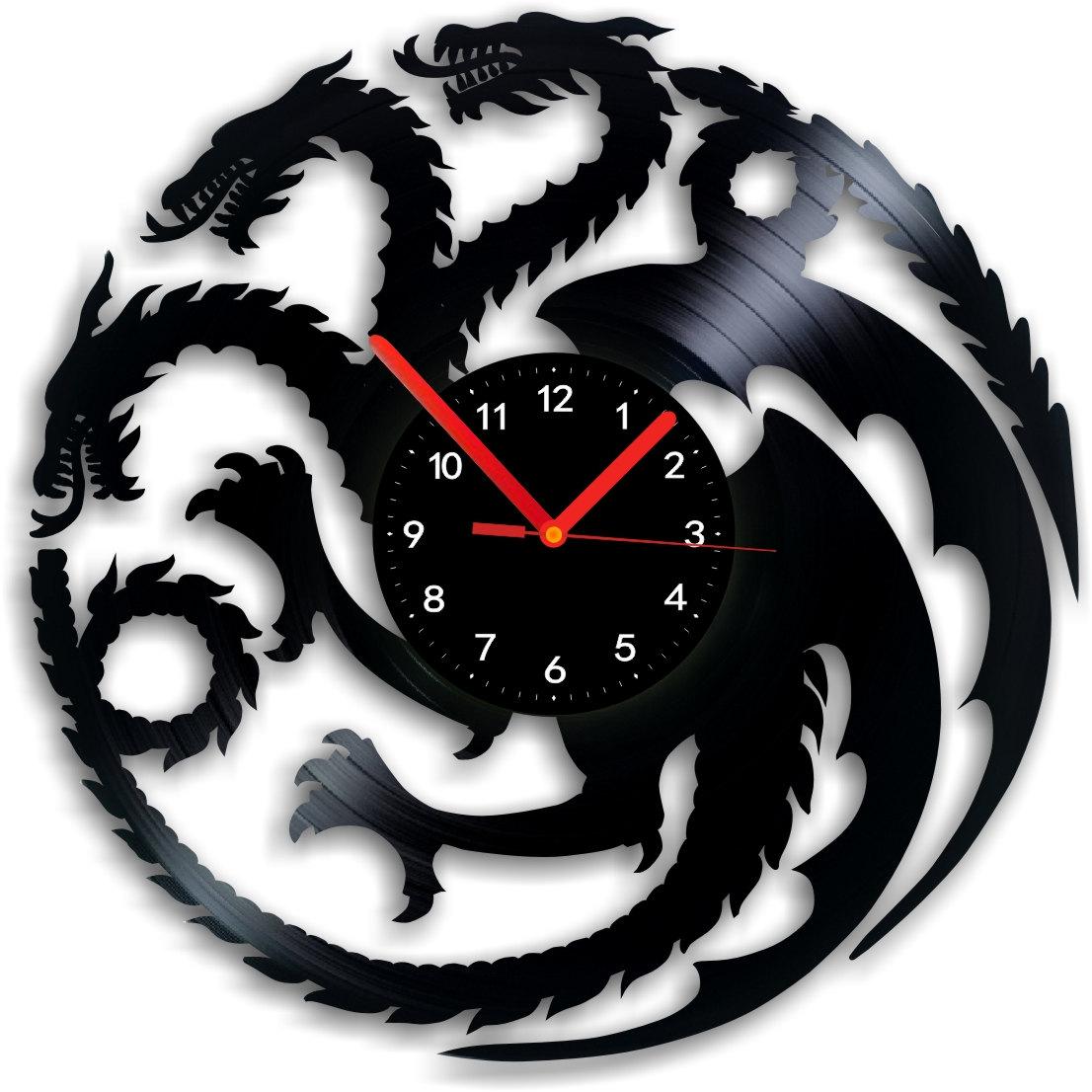 Vinyl Clock Game Of The Thrones Dragons Indigovento