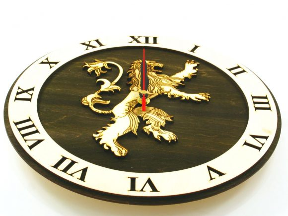 Game Of Thrones 2 Wood Clock Indigovento