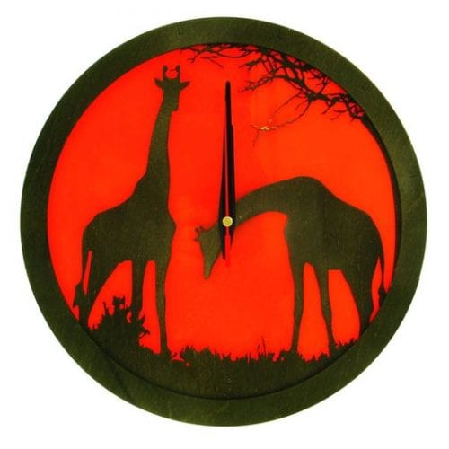 wood-clock-africa-giraffe-700