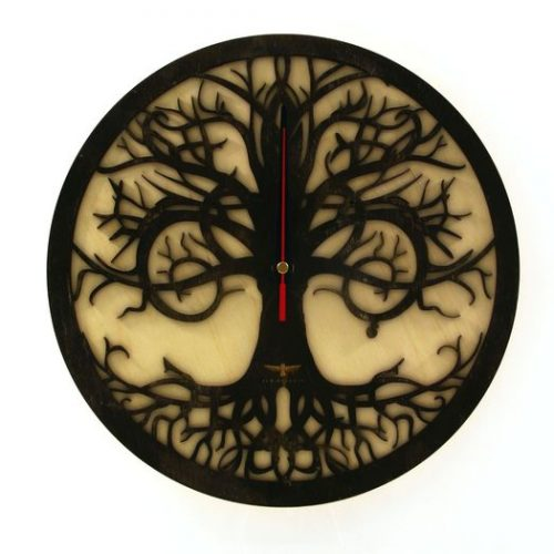 wood-clock-tree-reflection-700