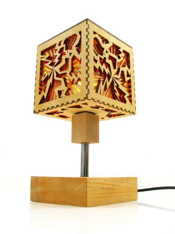 Wooden Lamp Table Tesla Indigovento