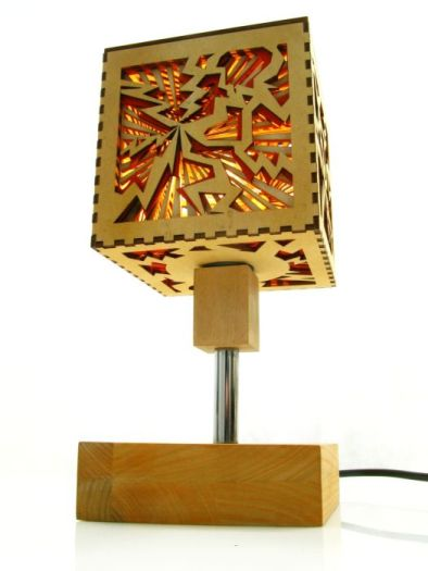 Wooden Lamp Table Tesla Indigovento