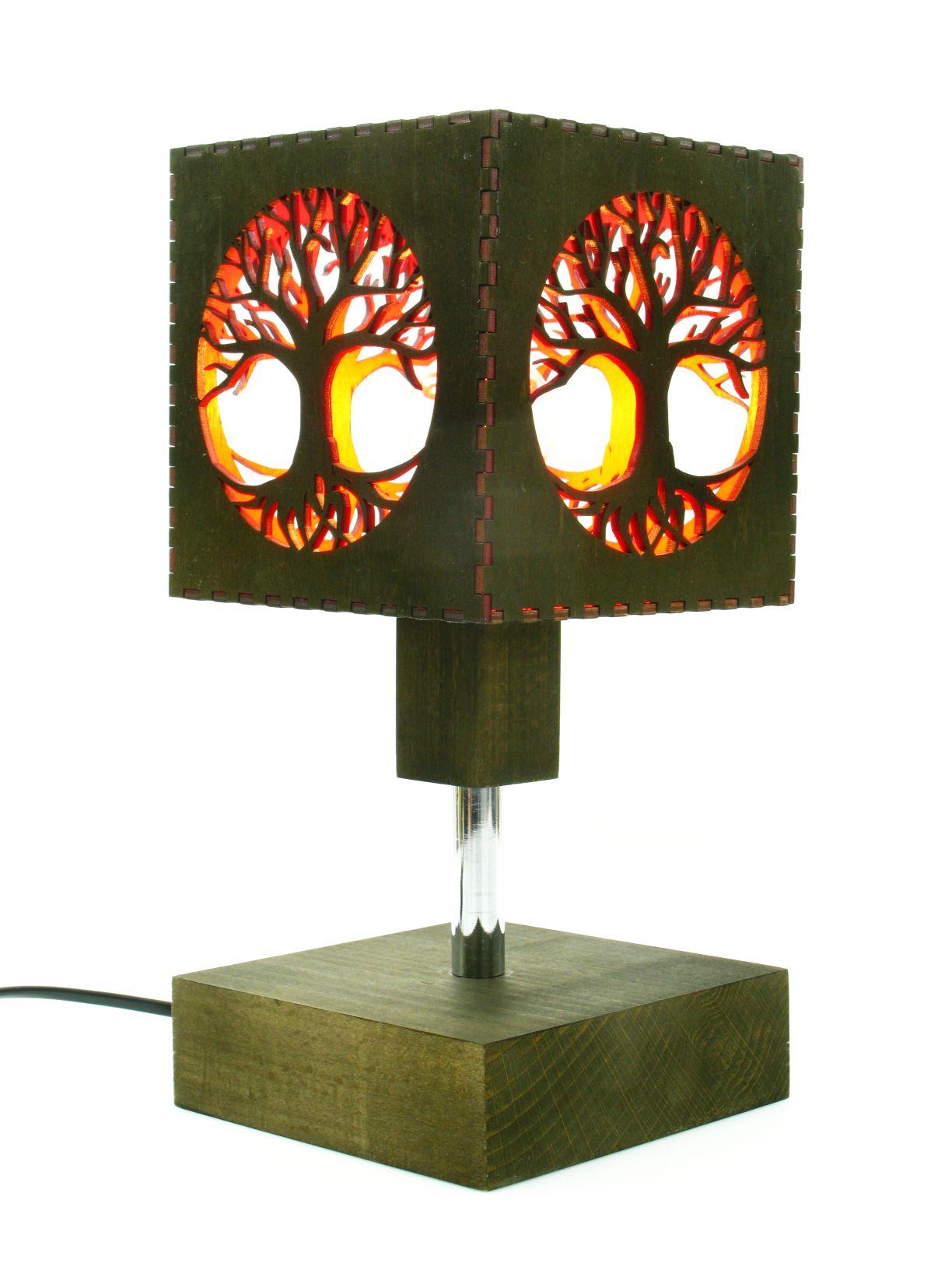 Wood Lamp Table Tree Of Life Indigovento