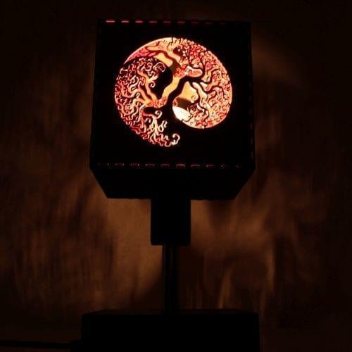 Wooden Lamp Jing Jang