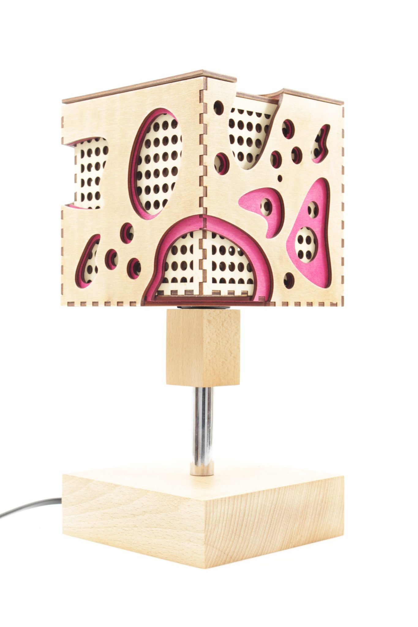 Wooden Lamp Table Miro Indigovento