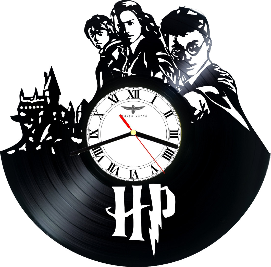 Vinyl Clock Wall Harry Potter Indigovento