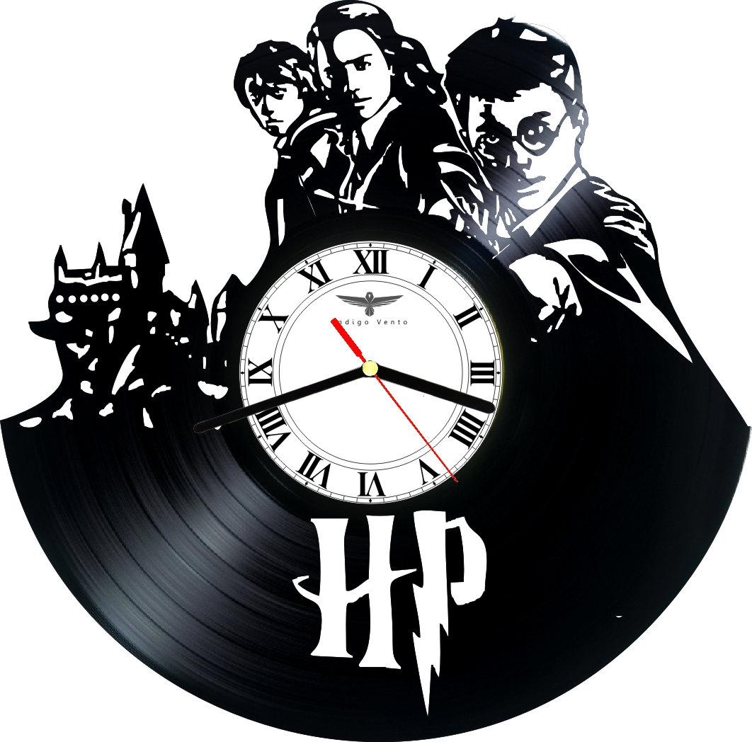 Vinyl Clock Wall Harry Potter Indigovento