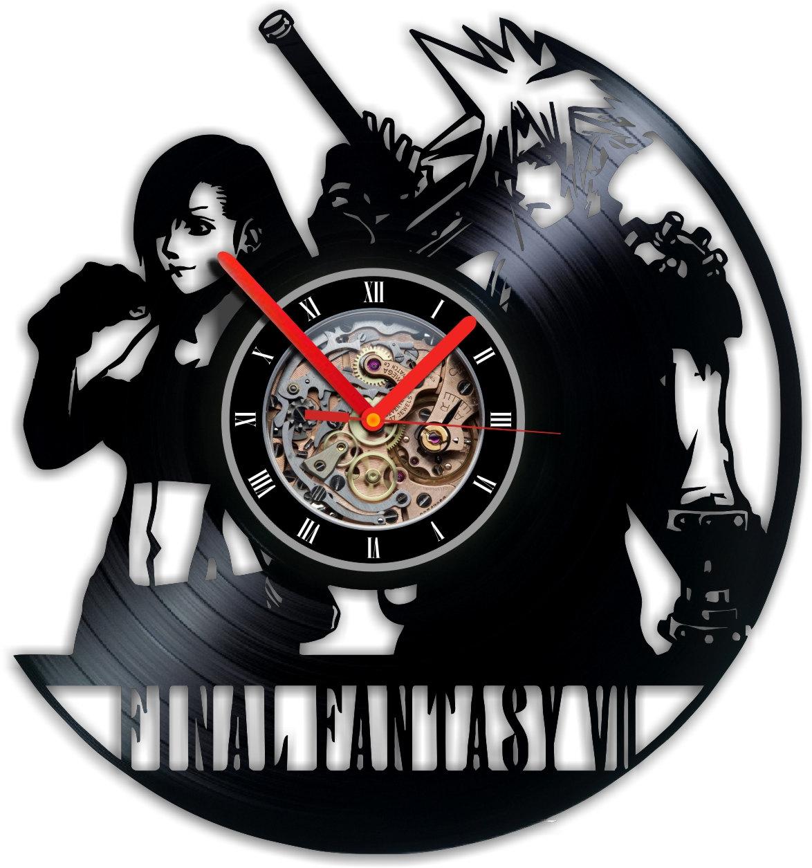 Vinyl Record Clock Wall Final Fantasy Vii Indigovento