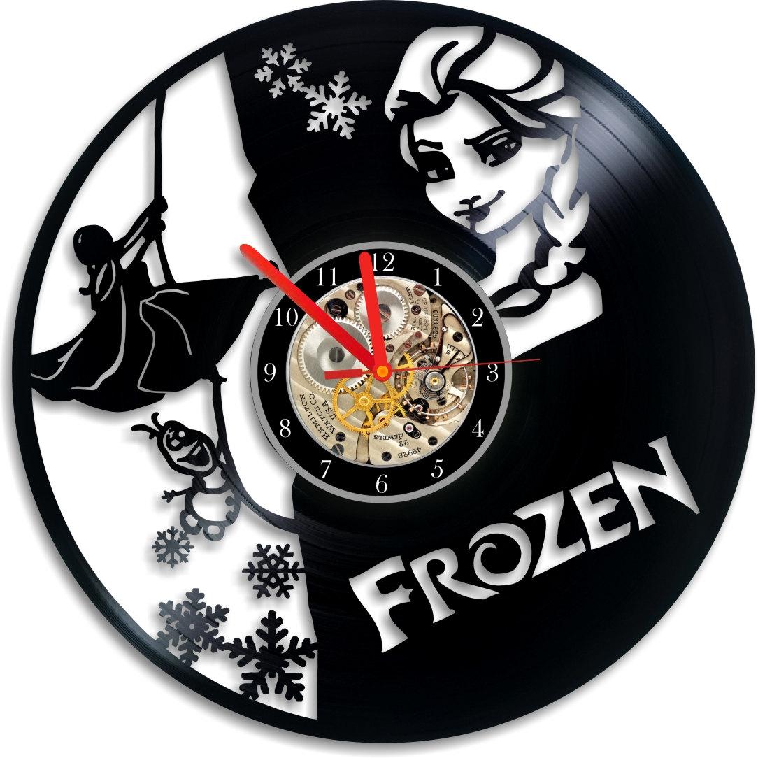 Vinyl Record Clock Frozen Clock Vinyl Wall Clock Frozen
