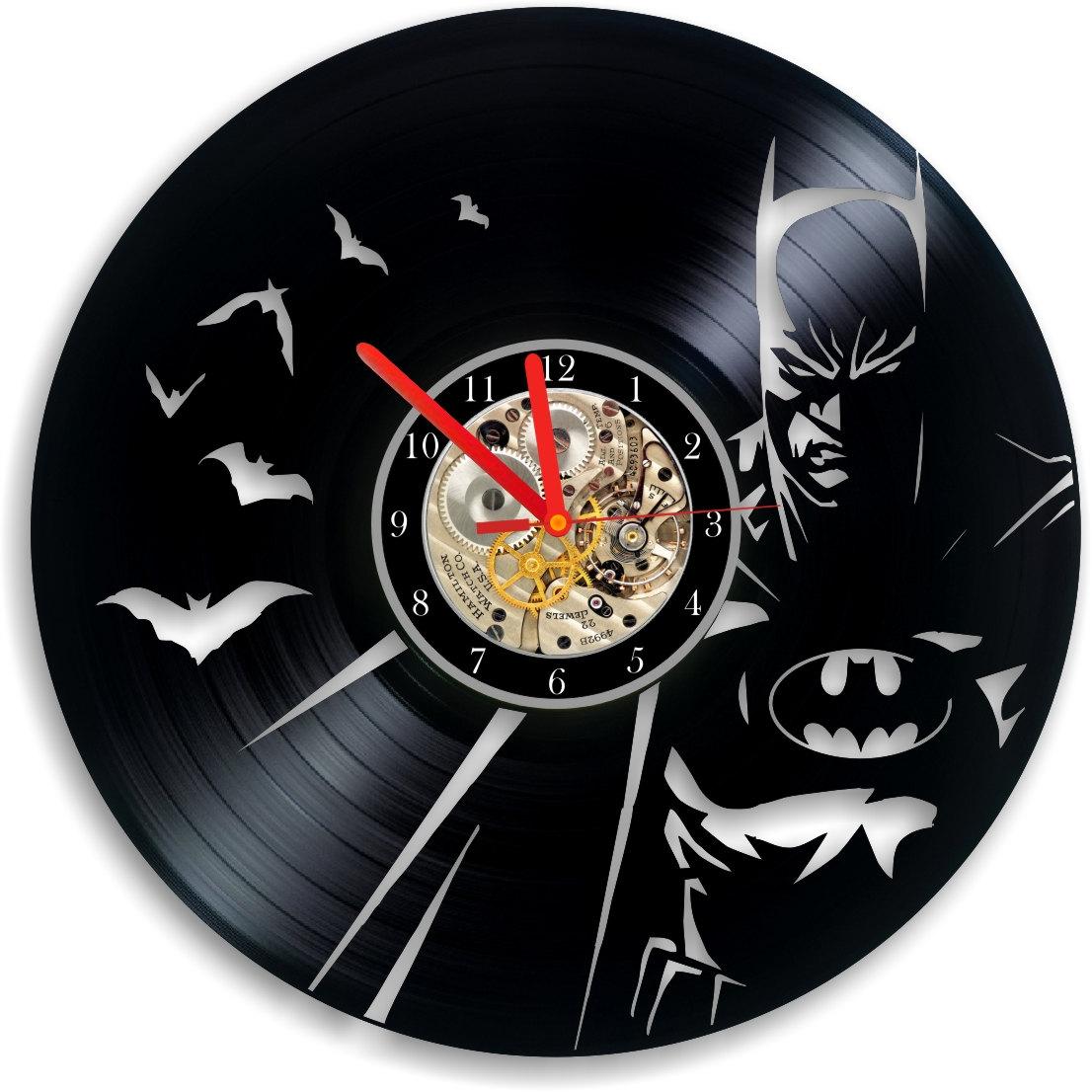 Batman Vinyl Clock Batman Clock Handmade Unique Clock