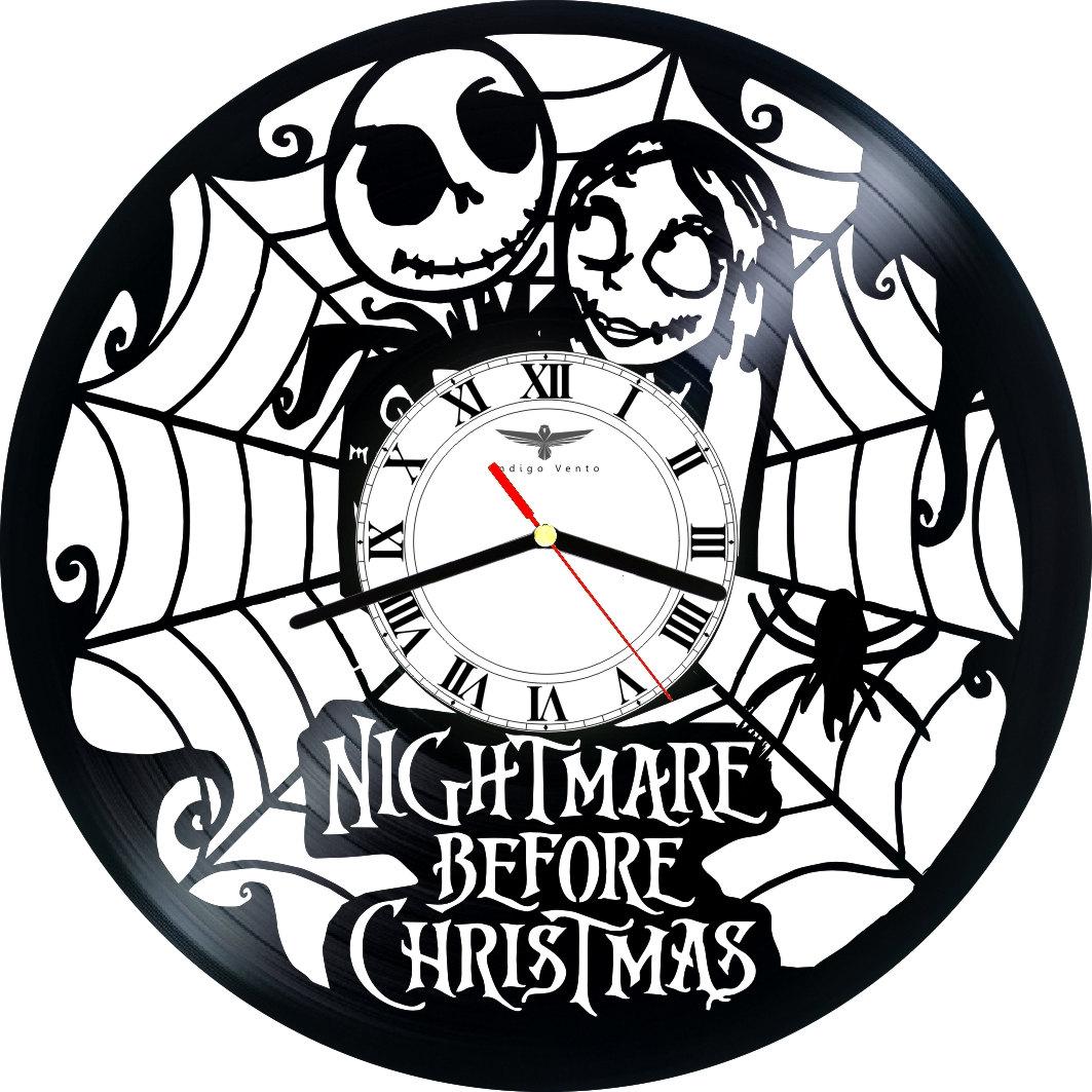 VINYL RECORD CLOCK WALL - NIGHTMARE BEFORE CHRISTMAS