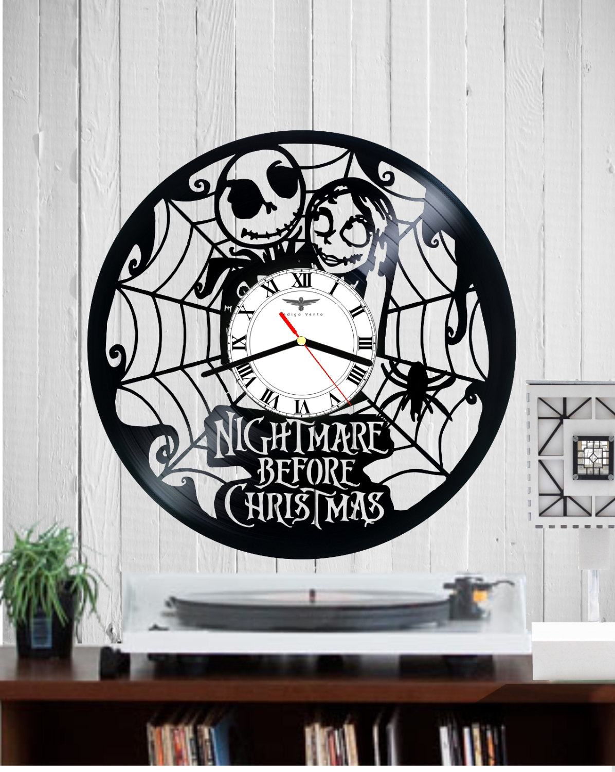 VINYL RECORD CLOCK WALL - NIGHTMARE BEFORE CHRISTMAS
