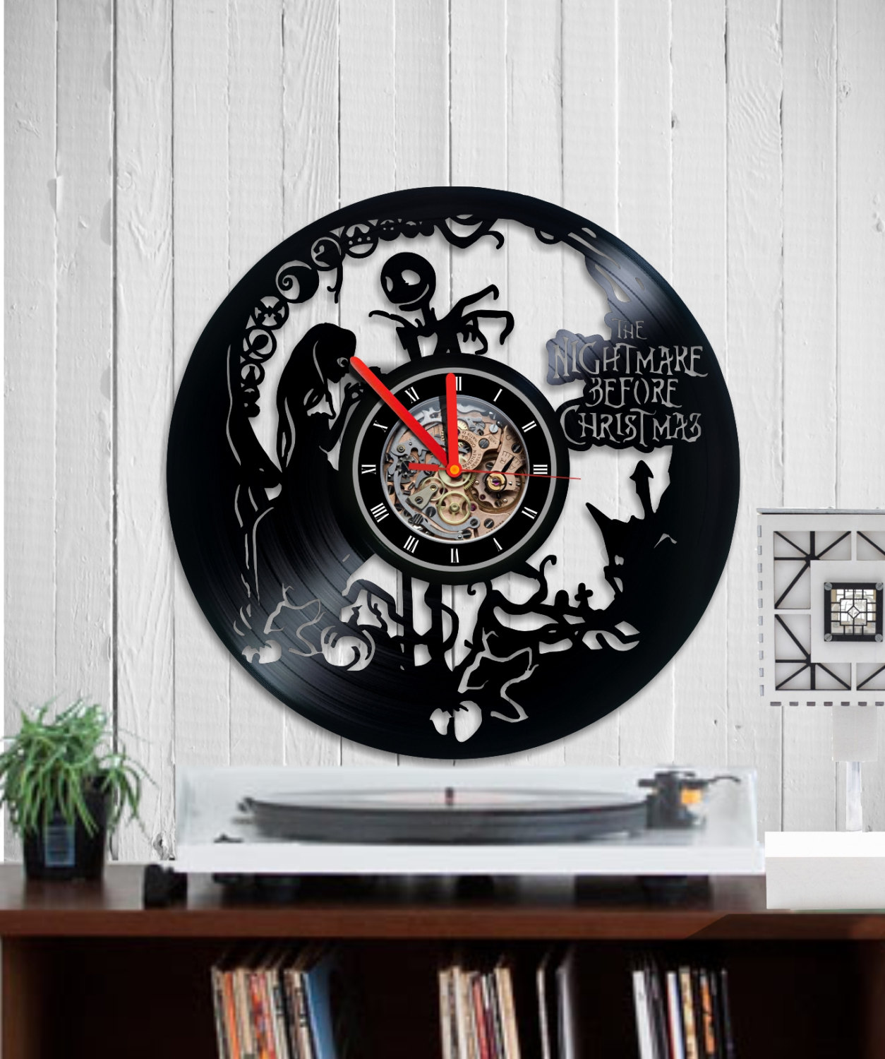VINYL RECORD CLOCK WALL - NIGHTMARE BEFORE CHRISTMAS 3