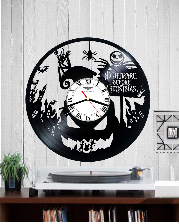 Vinyl Clock Wall Clock Halloween Nightmare Befor Christmas