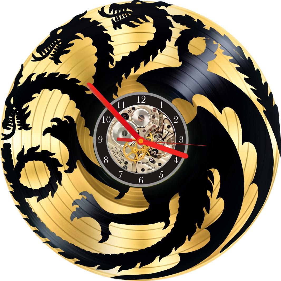 GAME OF THE THRONES VINYL CLOCK (GOLD) • Indigovento
